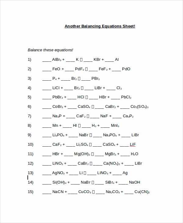 Balancing Equations Worksheet Pdf Along with Phet Balancing Chemical Equations Answers Lovely Balancing Chemical
