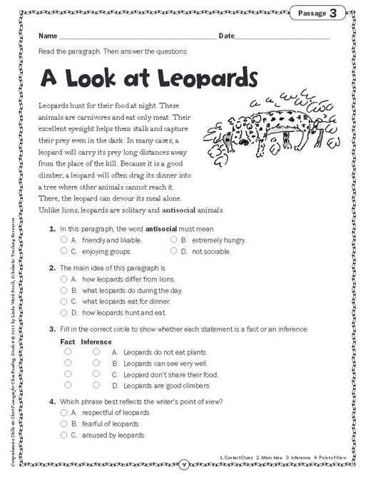 Basic Skills English Worksheets together with Prehension Skills Short Passages for Close Reading Grade 4