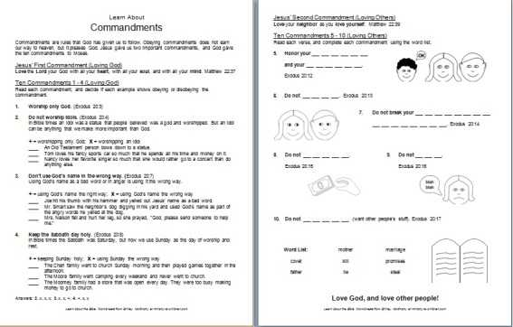 Bible Worksheets Pdf or Bible Worksheets for 4th Grade Kidz Activities