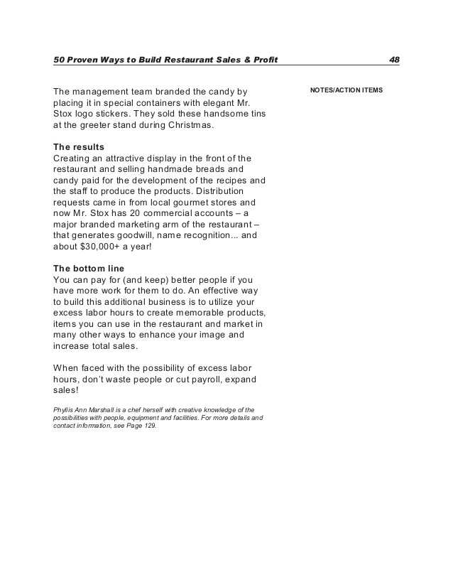 Big Business and Labor Worksheet Answer Key Also 50 Proven Ways to Build Restaurant Sales & Profits