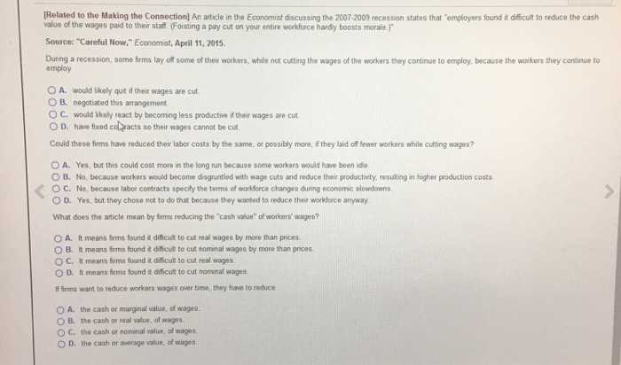 Big Business and Labor Worksheet Answer Key or Economics Archive November 12 2017