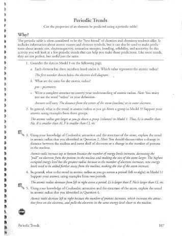 Biochemistry Macromolecules Pogil Worksheet together with Periodic Trends Worksheet Answers Pogil Worksheets