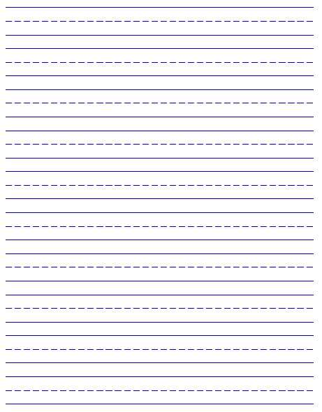 Blank Handwriting Worksheets and Writing Paper Printable for Kids Kiddo Shelter