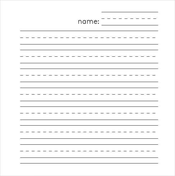 Blank Handwriting Worksheets or Writing Template Paper Guvecurid