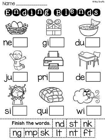 Blending Words Worksheets and 354 Best Phonics Images On Pinterest