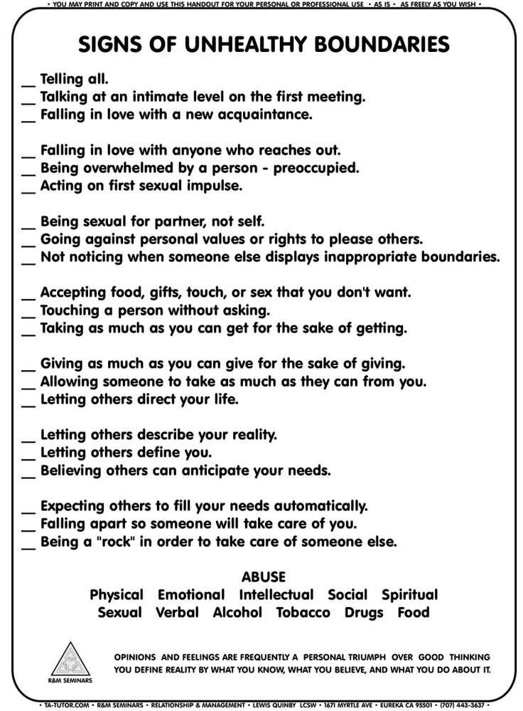 "Boundaries Worksheet therapy Also You Don T Have to Be Nice to People who aren T Nice to You "" Don T"