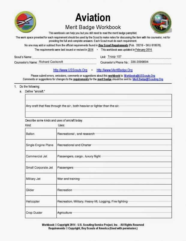 Boy Scout Merit Badge Worksheets with Best Camping Merit Badge Worksheet New Cub Scout Worksheets