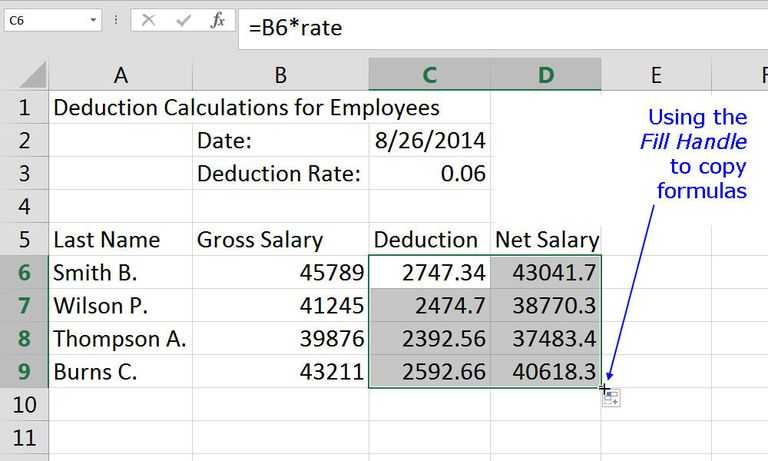 Calculating Gross Pay Worksheet Along with Microsoft Excel Basic Tutorial for Beginners