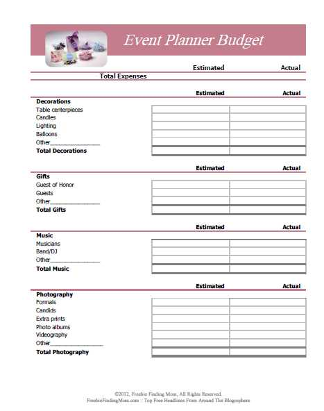 Catering Contract Worksheet Along with Free Printable Bud Worksheets – Download or Print
