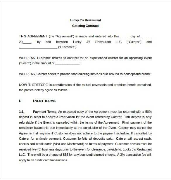Catering Contract Worksheet Also Catering Proposal Letter This Page Contains Different Templates for