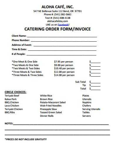 Catering Contract Worksheet or 80 Best Cake Business order form Images On Pinterest