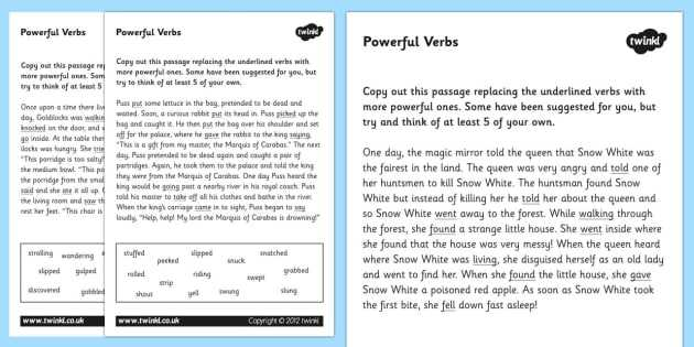Changing Statements Into Questions Worksheets with Answers or Powerful Verbs Worksheets Verbs Verbs Worksheets Powerful