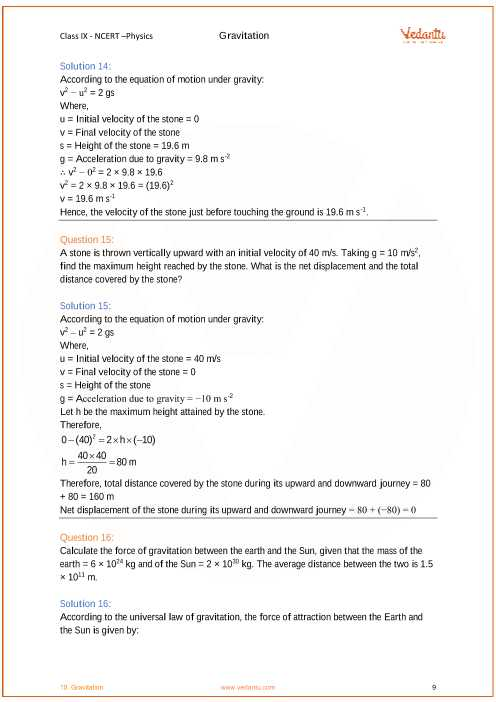 Chapter 13 Universal Gravitation Worksheet Answers together with Ncert solutions for Class 9 Science Chapter 10 Gravitation