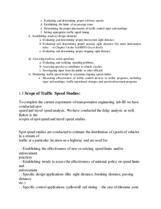 Chapter 2 Signs Signals and Roadway Markings Worksheet Answers and Traffic Speed Analysis
