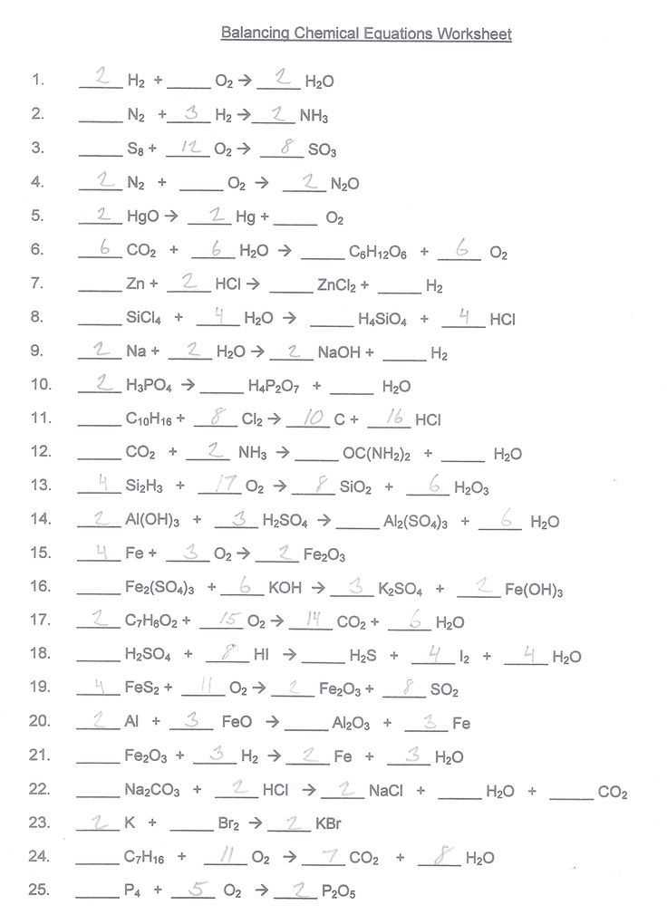Chemistry Balancing Chemical Equations Worksheet Answer Key or 87 Best Science Images On Pinterest