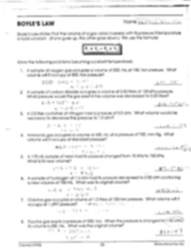 Chemistry Gas Laws Worksheet Answers with Lovely Gas Laws Worksheet New Gas Laws Packet Key Chemistry Name He