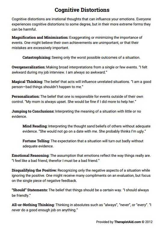Cognitive Distortions therapy Worksheet Also 19 Best therapist therapy Images On Pinterest