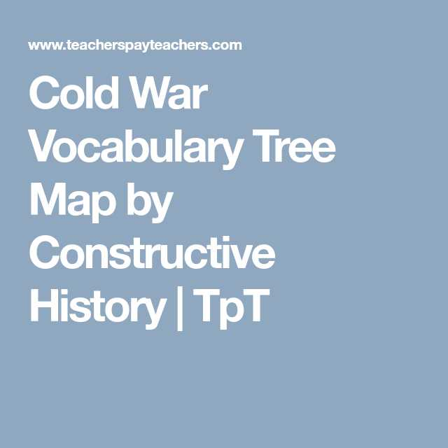 Cold War Vocabulary Worksheet Answers Also Cold War Vocabulary Tree Map