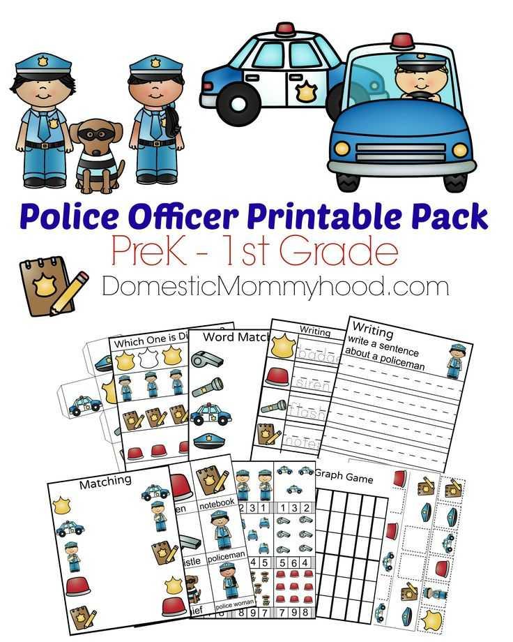 Community Helpers Police Officer Worksheet as Well as Of Printable Maths Games for Kids Easy Worksheet Ideas
