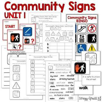 Community Living Skills Worksheets Along with Munity Signs Games and Worksheets Unit 1 for Special