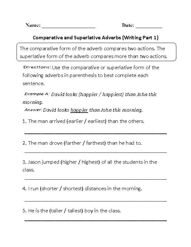 Comparison Of Adverbs Worksheet as Well as Worksheets 48 New Adjective Worksheets Full Hd Wallpaper S