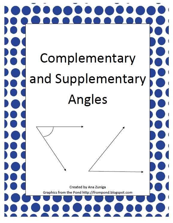 Complementary and Supplementary Angles Worksheet Answers Also by Ana Zuniga 7th 12th Grade This is A 5 Page Pdf Document On