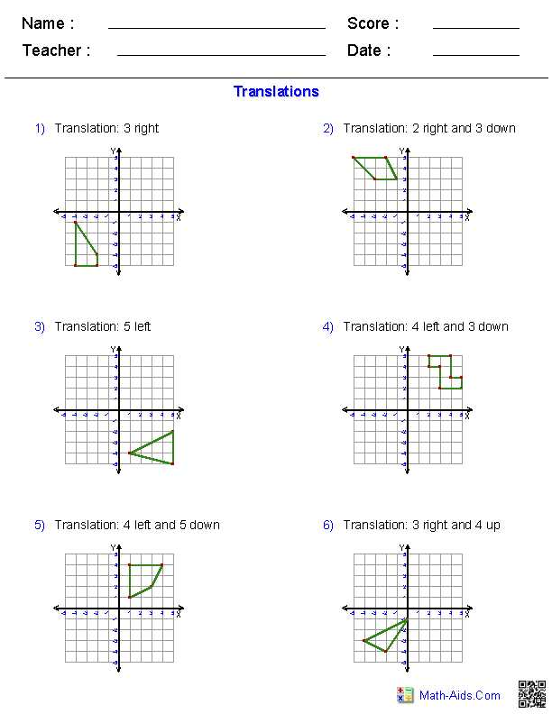Compositions Of Transformations Worksheet Answers as Well as Position Of Transformations Worksheet 10 Cooperative Portrayal 10