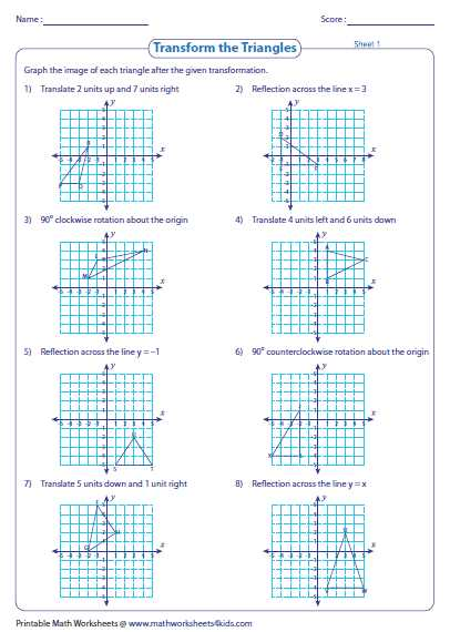 Compositions Of Transformations Worksheet Answers together with Position Of Transformations Worksheet 10 Cooperative Portrayal 10