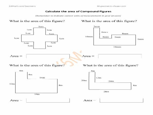 Compound Shapes Worksheet Answer Key with Volume Of Irregular Shapes Worksheets Free Library Calculate the