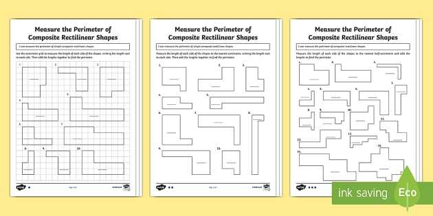 Compound Shapes Worksheet Answer Key with Year 5 Measure the Perimeter Of Posite Rectilinear Shapes