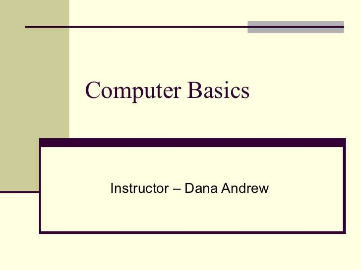 Computer Basics Worksheet Section 8 as Well as Puter Basics 101 Slide Show Presentation