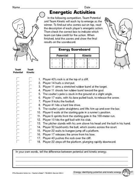 Conservation Of Energy Worksheet or Potential Vs Kinetic Energy Hs Science Pinterest