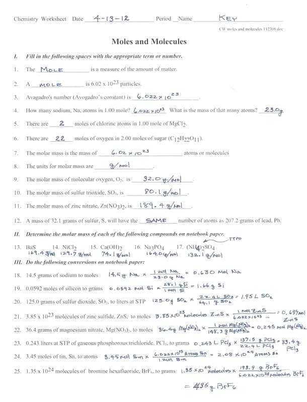 Conservation Of Mass Worksheet Also Awesome Stoichiometry Worksheet Unique Moles and Mass Worksheet