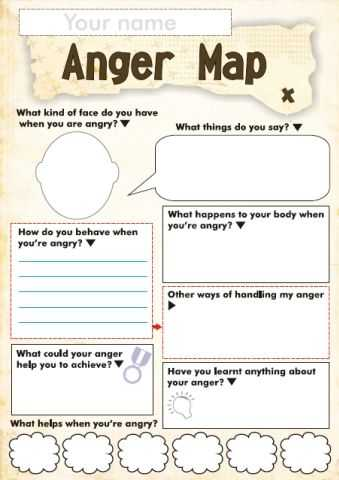 Coping Skills Worksheets for Youth and Free Anger and Feelings Worksheets for Kids