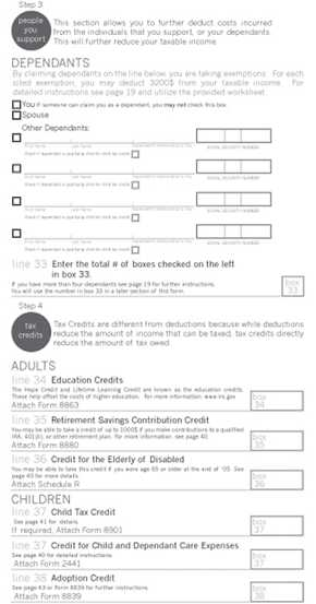 Credit Limit Worksheet 8880 and 1040 Tax form Re Design