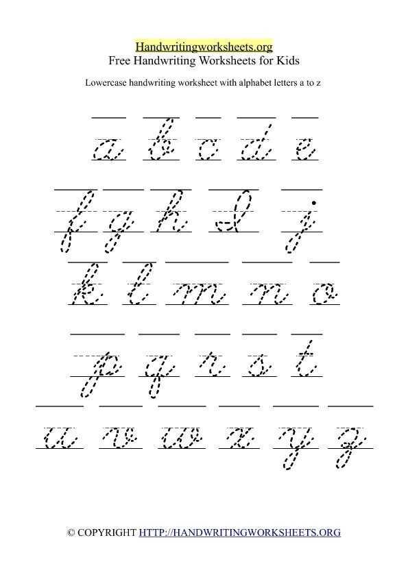 Cursive Alphabet Worksheets Pdf or 701 Best Cursive Writing Images On Pinterest