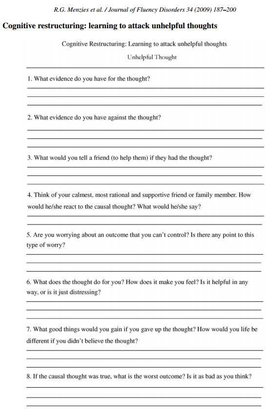 Depression Worksheets Pdf Also Cbt Worksheet Redefiningbodyimage This Looks Like A Really