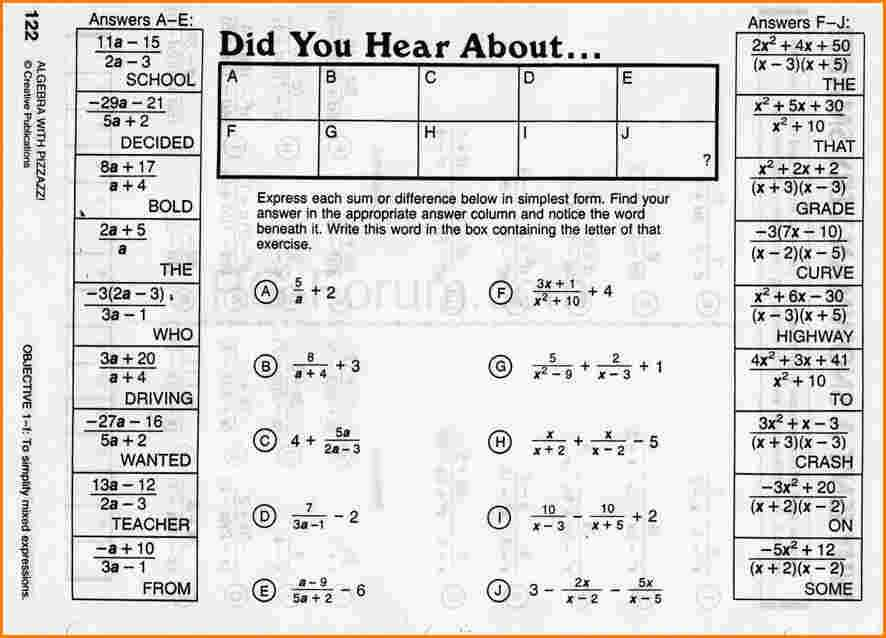 Did You Hear About Worksheet Answers Page 150 or Did You Hear About Math Worksheet Inequalities