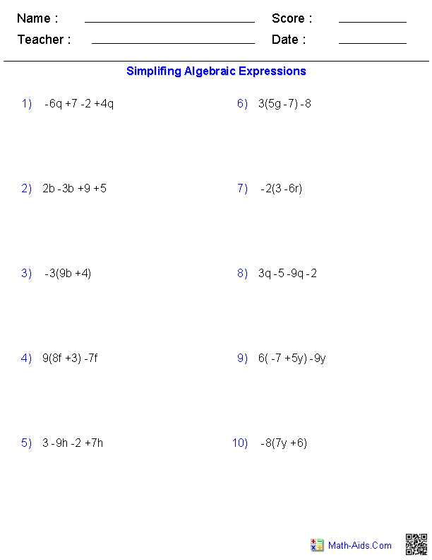 Distributive Property Combining Like Terms Worksheet Along with Simplifying Expressions Using the Distributive Property