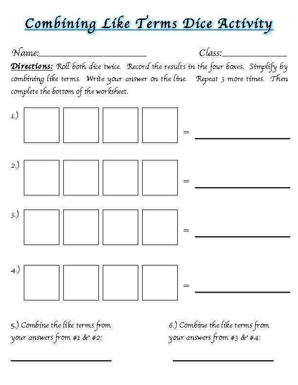 Distributive Property Combining Like Terms Worksheet Along with Worksheets 51 Lovely Bining Like Terms Worksheet High Resolution
