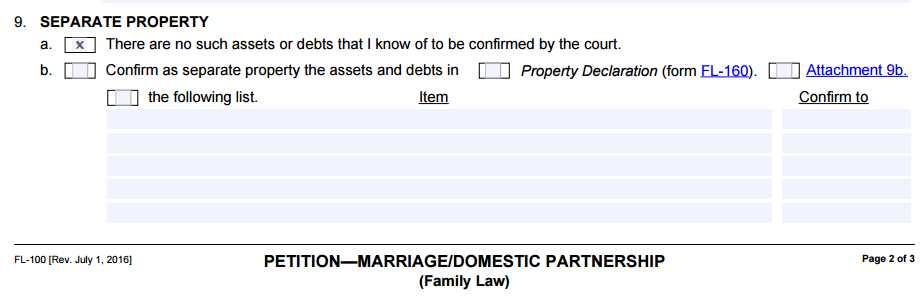 Divorce Annulment Worksheet Also California Divorce form Fl 100 Cristin Lowe Law