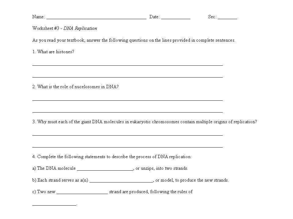 Dna Replication Worksheet Answer Key and New Dna Replication Worksheet Answers Awesome Dna Notes Concept Hd