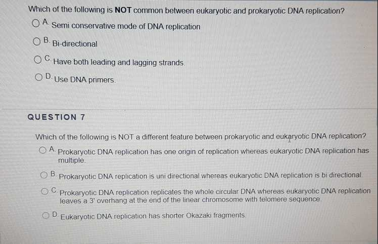 Dna Replication Worksheet Key Along with solved which the tolowings Not Mon Between Eukaryot