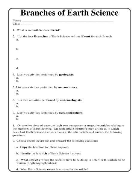Earth Science Worksheets High School together with Earth Science Worksheet Worksheets for All