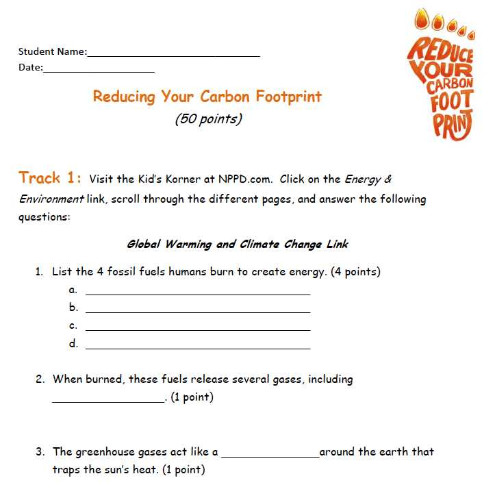 "Ecological Footprint Worksheet Answers with Carbon Footprint Worksheet & """"sc"" 1""st"" ""chicago Botanic Garden"