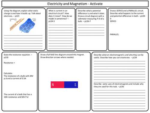 Electric Circuits and Electric Current Worksheet Answers as Well as Ks3 Activate Science Electricity and Magnetism topic Revision by