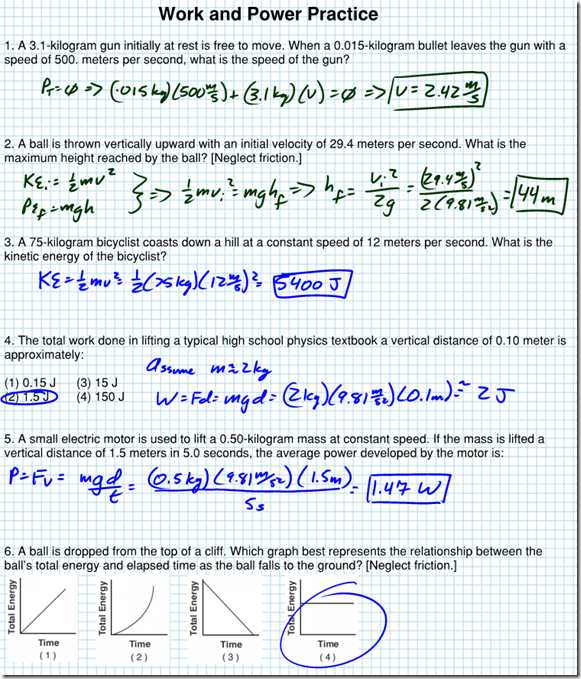 Electrical Power Worksheet Answers or Kinetic Energy Problem Set Worksheet with Answers Kidz Activities