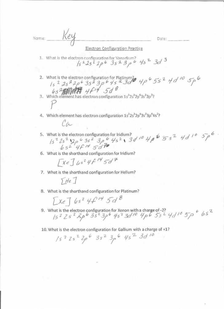 Electron Configuration Chem Worksheet 5 6 Answers Also Worksheets 43 Beautiful Electron Configuration Worksheet Answers