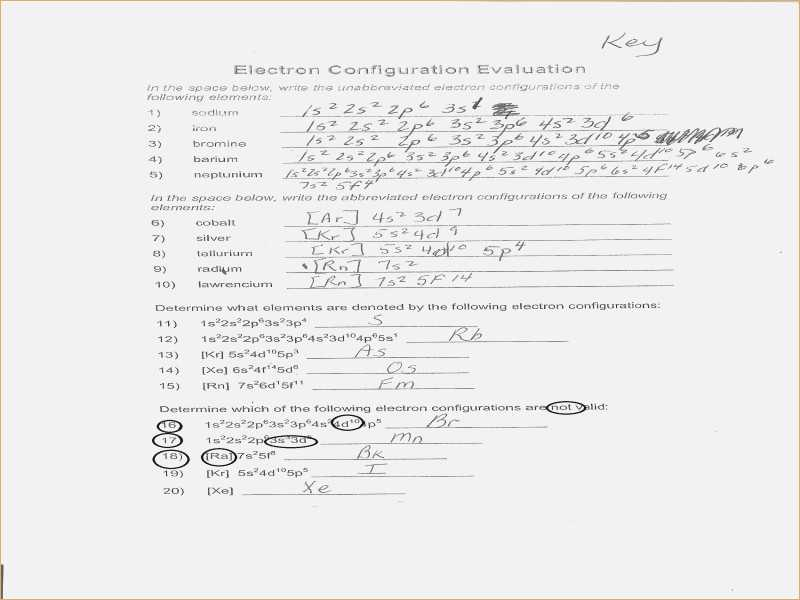 Electron Configuration Chem Worksheet 5 6 Answers together with Worksheets 43 New Electron Configuration Practice Worksheet Full Hd
