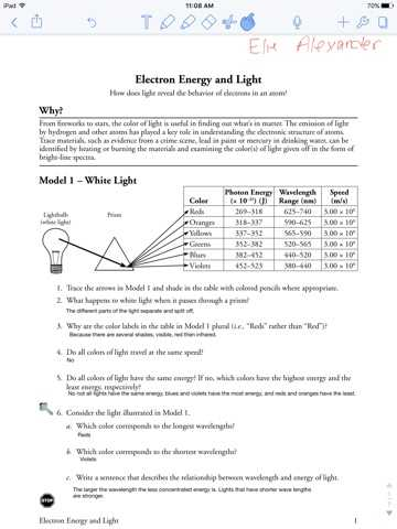 Electron Energy and Light Worksheet Answers together with Cosmos Worksheet 2